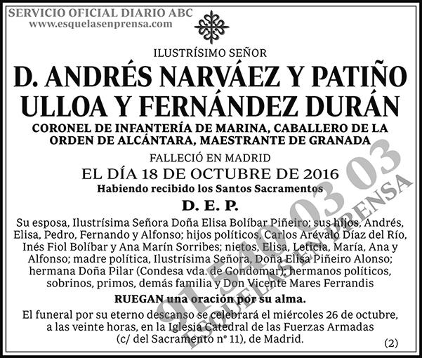 Andrés Narváez y Patiño Ulloa y Fernández Durá